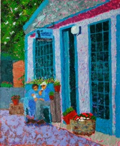 Kathleen Hall, MDI Ice Cream Shop, oil on canvas, 20 X 24 © The Artist
