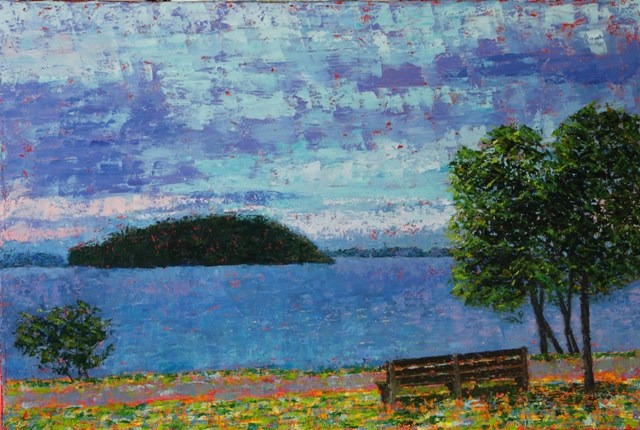 Kathleen Hall, Grant Park, oil on canvas, 30 X 20 © The Artist