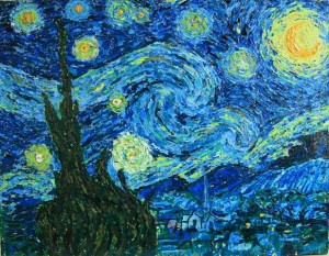 The  Starry Night, oil on canvas, 14 X 11, © The Artist