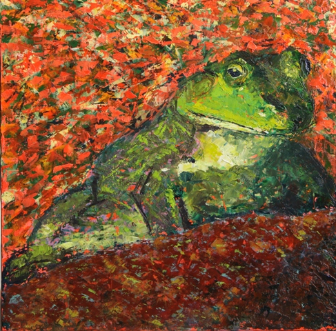 Kathleen Hall, Got Fly?, oil on canvas, 10 X 10 © The Artist