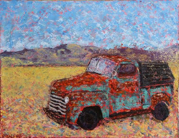Kathleen Hall, Still on the Road, oil on canvas, 18 X 14 ©The Artist