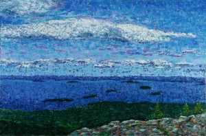 View from Cadillac Mountain, oil on canvas, 36 X 24 (c) Kathleen Hall