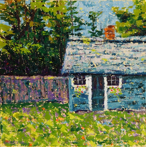 Garden Shed, oil on canvas, 10 x 10 (c) Kathleen Hall