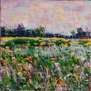 Wildflowers, oil on canvas, 10 X 10 (c) Kathleen Hall