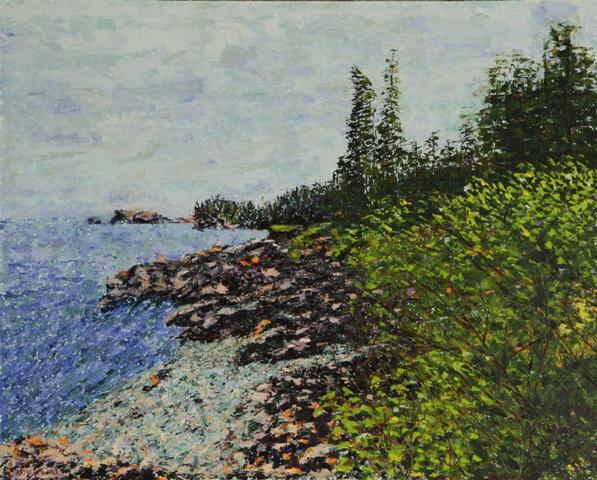 Rocky Coast, oil on canvas, 30 X 24 (c) Kathleen Hall