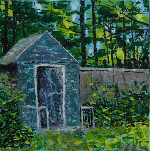 Tucked Away, oil on canvas, 10 X 10 (c) Kathleen Hall