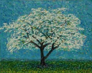 White Tree, oil on canvas, 30 x 24 (c) Kathleen Hall
