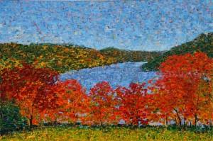 Squantz Pond, oil on canvas, 36 X 24 (c) Kathleen Hall