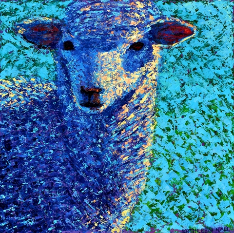 Blue Without Ewe oil painting by Kathleen Hall