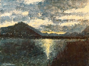 Dusk Over Lake Como oil painting by Kathleen Hall