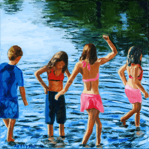 Fun in the Summer oil painting by Kathleen Hall