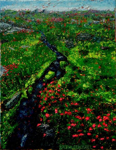 Mountain Stream oil on canvas by Kathleen Hall