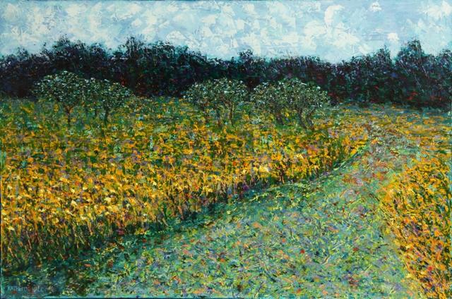 Kathleen Hall, Island Path, oil on canvas, 30 X 20, © The Artist