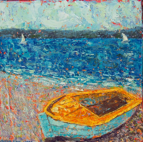 Kathleen Hall, Beached II, oil on canvas, 8 X 8 © The Artist