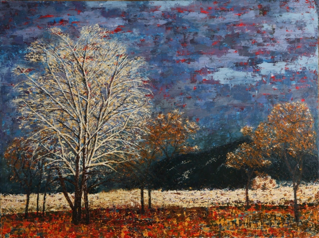 Kathleen Hall, Dusk Over Taos, oil on canvas, 48 X 36 ©The Artist