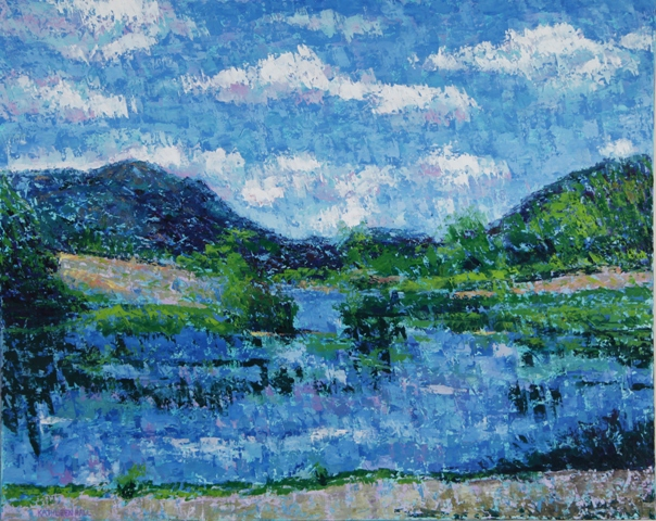 Little Long Pond, oil on canvas, 30 X 24 (c) Kathleen Hall