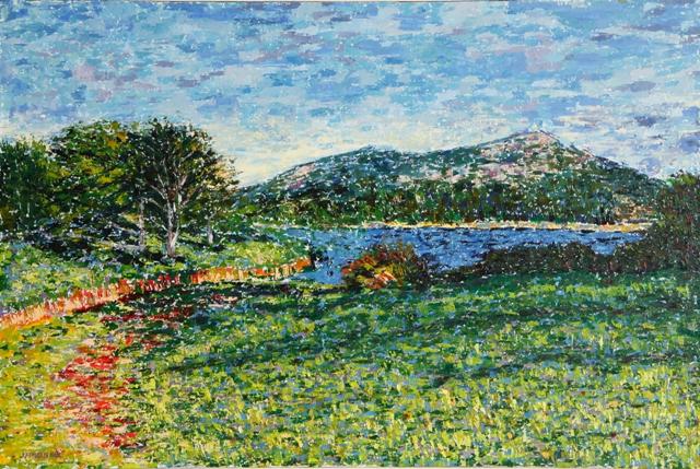 Path Along Little Long Pond, oil on canvas, 30 X 20 (c) Kathleen Hall